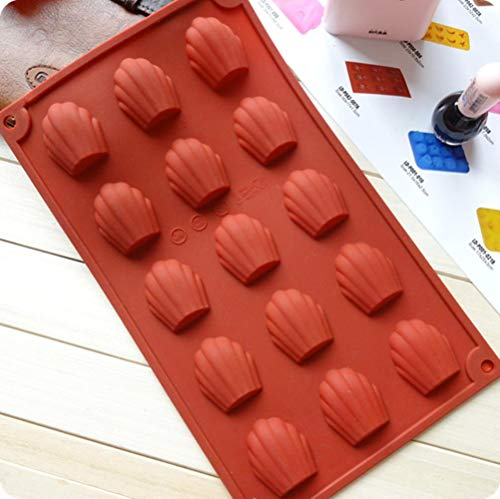 EDCV Cakevorm Siliconen Madeleine Koekjesvorm Platina Siliconen Koekjes Taart Bakvormen