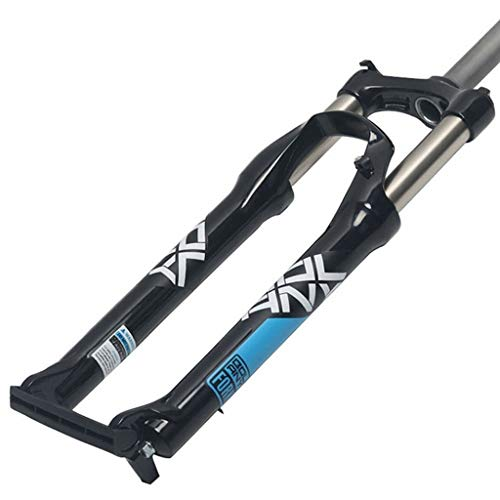 MZP 26 27,5 29 In Mountainbike Federgabel Downhill-Gabel Aus Kohlenstoffreichem Stahl MTB Luftgabel Hub 100mm Schwarz Weiß (Color : C, Size : 26inch)