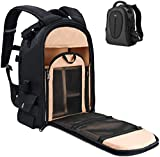 DSLR Camera Bag, Waterproof Backpack with 12' Laptop Compartment Camera Case Travel Backpack, Anti Theft Camera Case Bag for Canon Nikon Sony DSLR/SLR Cameras and Lens Tripod Accessories