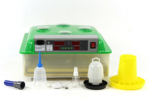 Inkubator VOLLAUTOMATISCH BK48ProActive + aktivem Luftbefeuchter + Zubehör, 48 Eier, Brutautomat, Brutmaschine