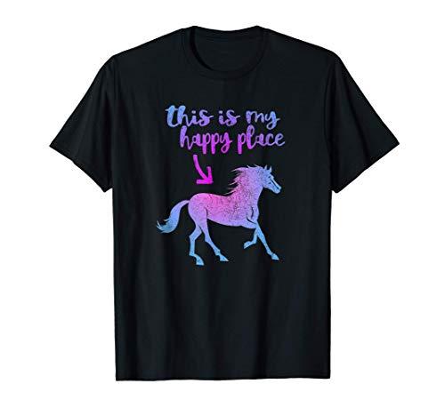 Este es mi lugar feliz. Regalo de caballos para los jinetes. Camiseta