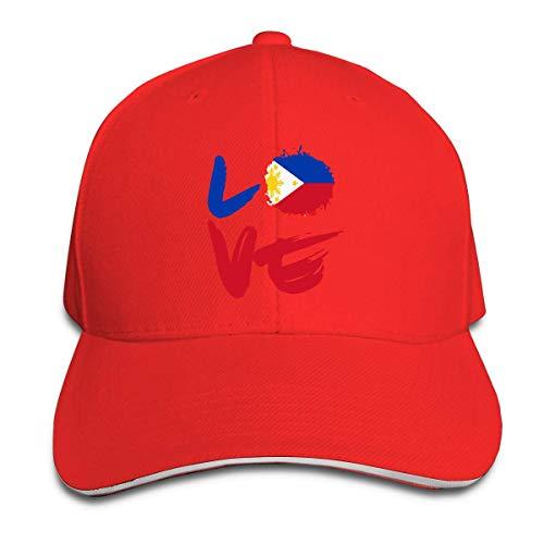 HomePink Love Filipinas Flag Men Mujer Trucker Hat Gorra de béisbol