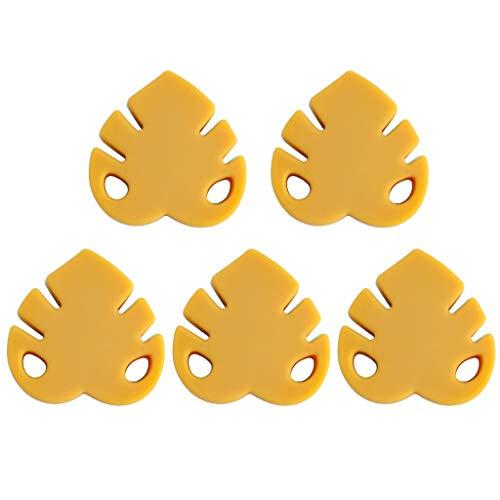 MEIKONG 5 Stück Cartoon Blätter Silikon Perlen Beißring BPA-frei Neugeborenen Zahnen Schnuller, Exquisite Und Schöne Babyspielzeuge, Babypflegeprodukte
