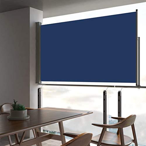 FAMIROSA Toldo Lateral retráctil para Patio Azul 140x300 cm