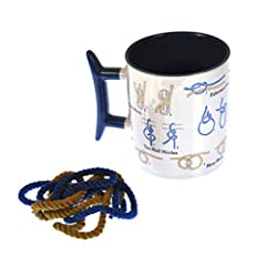 Are you a sailor, a whaler, or just a good scout? UPG will help get you ship-shape with our How to Tie Knots mug. The mug has a cleat for a handle and comes with a length of rope. As soon as you open the box, you can follow the step-by-step instructi...