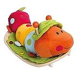 roba Schaukelraupe, Schaukeltier 'Raupe' mit weicher Stoff-Polsterung, Schaukelsitz für Kleinkinder, Schaukelspielzeug ab 18 Monate -