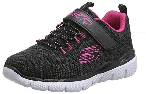 Skechers Mädchen Skech Appeal 3.0 Sneaker, Schwarz (Black Knit Mesh/Hot Pink Trim BKHP), 28.5 EU