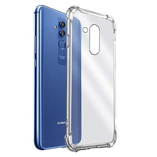 REY - Funda Anti-Shock Gel Transparente para Huawei Mate 20 Lite, Ultra Fina 0,33mm, Esquinas Reforzadas, Silicona TPU de Alta Resistencia y Flexibilidad