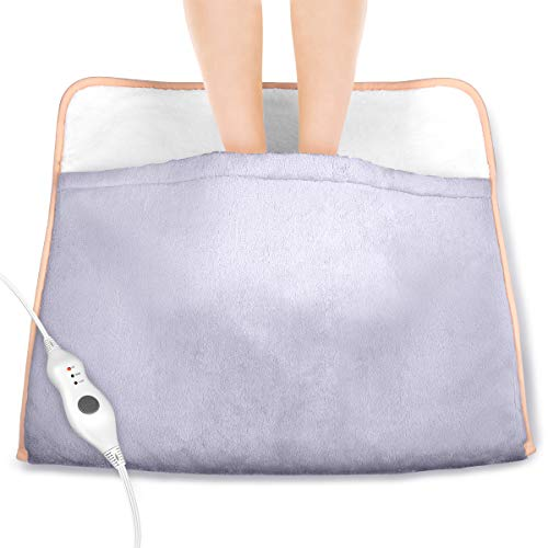 Heating Pad - Auto Shut Off, Electric Heated Foot Warmer with 3 Kinds of Adjustable Temperature and Fast-Heating Technology, Super Soft Flannel Cloth Heating pad for Feet, Back, Waist, Abdomen