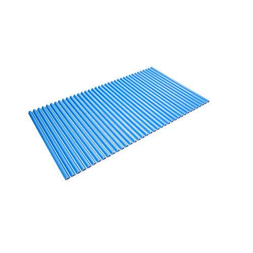 東プレ シャッター式風呂ふた 波型 カラーウェーブ 75×120cm ブルー L12