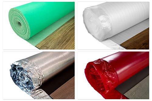 20qm NostraSonic Trittschalldämmung 1,5mm Stärke - Unterlage perfekt geeignet für Vinylböden, integrierte Dampfbremse, elastisches und widerstandsfähiges Material - alle Nostra Modelle