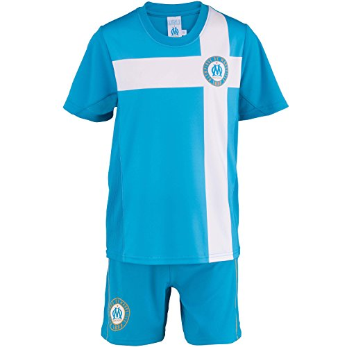 Olympique de Marseille Trikot + Shorts, offizielle Kollektion, Kindergröße, Jungen 14 Jahre blau