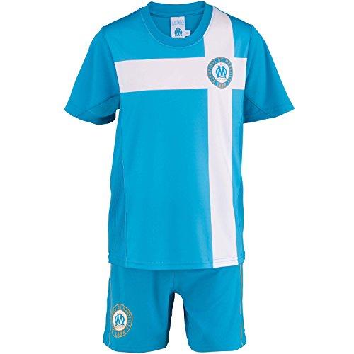 Olympique de Marseille Trikot + Shorts, offizielle Kollektion, Kindergröße, Jungen für 4-Jährige blau