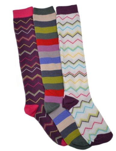 WB Socks 3 Paar Langsocken, Damen - Kniehohe Bootsocken