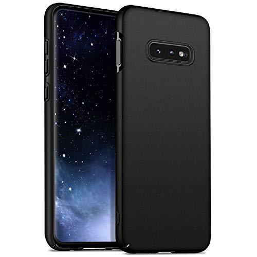 Meidom Ultra Dünn Kompatibel mit Samsung Galaxy S10e Hülle Hochwertigem Handyhülle [Anti-Fingerabdruck] PC Bumper Schutzhülle für Samsung Galaxy S10e (5,8 Zoll) - Matt Schwarz