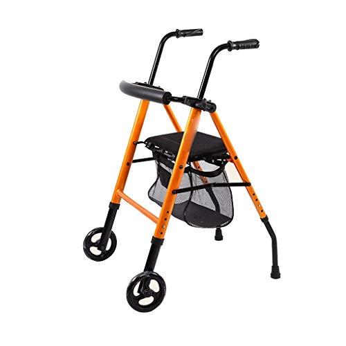 Andadores estándares y ligeros Andadores andador andador plegable conveniente ancianos Walker Compras multifunción de cuatro ruedas Walker ayuda for caminar de la carretilla Andadores estándares y lig