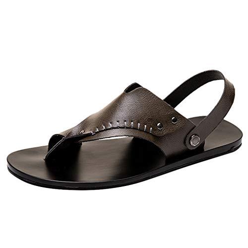 HDUFGJ Damen Herren Clogs Hausschuhe Pantolette Zehentrenner Beach Schuhe Sandalen Schuh Pantolette Made in Germany Arbeitsschuhe Bequeme Gartenschuhe rutschfest Zehentrenner43 EU(Khaki)