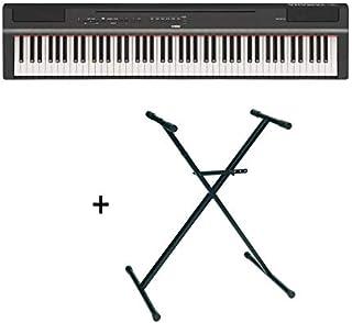 Yamaha P125 - Piano digital (88 teclas + soporte en X), color negro