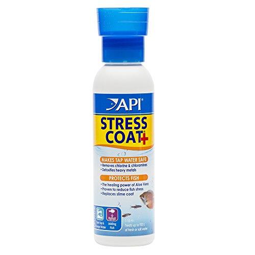 API STRESS COAT Aquarium Water Conditioner 4-Ounce Bottle (85B)