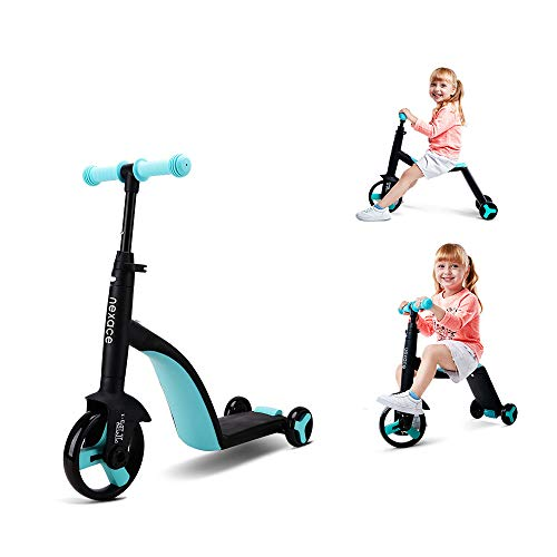 nexace Kids Tricycle 3 in 1 Toddler Balance Bike Scooters for Kids 2-5 Ride On Toys (Blue)