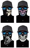 Pañuelo 3D para la cabeza para ciclismo, multifunción, resistente al viento, máscara para moto, esquí, snowboard, bufanda de cuello, bandana, Halloween, K-A 4 unidades