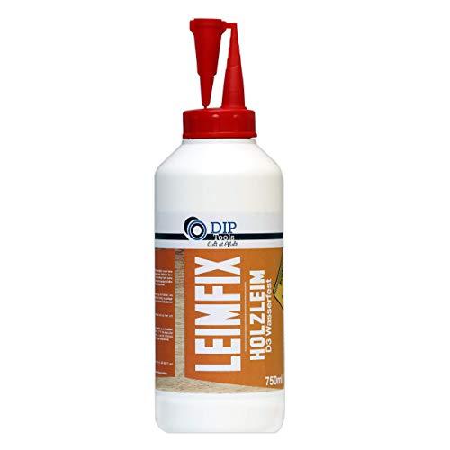 Holzleim (750ml) extra stark in D3 Qualität - wasserfest für innen und außen - transparent und geruchsarm - Profi Leim mit schneller und maximaler Klebekraft aus der Komfortflasche