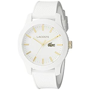 Lacoste Men's 2010819 Lacoste.12.12 Analog Display Quartz White Watch