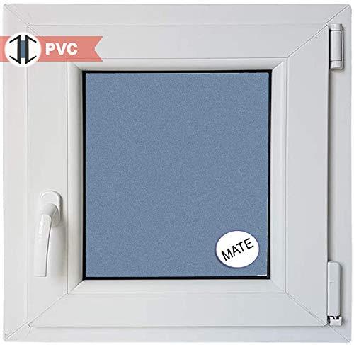 Ventana PVC Practicable Oscilobatiente Derecha 600 ancho x 500 alto 1 hoja con vidrio Carglass (Climalit Mate)