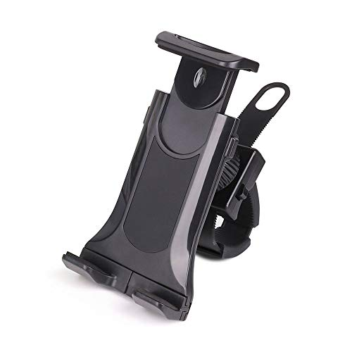 BESTSOON Soporte de montaje para teléfono de bicicleta para manillar de bicicleta de 4.0 a 10.5 pulgadas teléfonos móviles tabletas soporte móvil