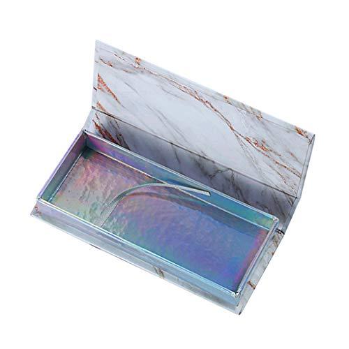 BoîTe De Rangement Pour Cils Mode Pas Cher Compartment Tool Gadget Beauté Pour 1 Pair Faux Cils (12 x 5,2 x 2 cm (4,75x2,1x0,8 po), Blanc)