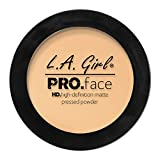 L.A. Girl Pro Face HD Matte Pressed Powder, Creamy Natural, 0.25 Ounce (Pack of 3) (GPP604)