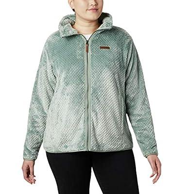 Columbia Women's Fire Side II Sherpa Full Zip Outerwear, Light Lichen, X-Small