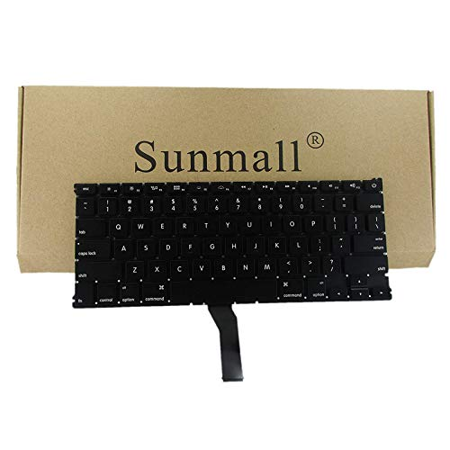 "SUNMALL Backlight Backlit Keyboard Replacement for Apple MacBook Air 13"" A1369 (2011) A1466 (2012-2015) MJVE2LL/A MD760LL/A MC965LL/A MD231LL/A MJVG2LL/A Series Laptop Keyboard"