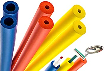 6-Pack of Foam Grip Tubing/Foam Tubing - Ideal Grip Aid for Utensils Tools and More - No BPA/Phthalate/Latex