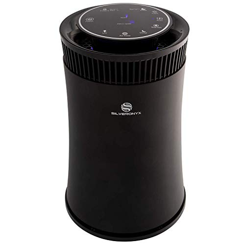 SilverOnyx Air Purifier for Home Large Room with True HEPA Filter, Air Quality Monitor, UVC...