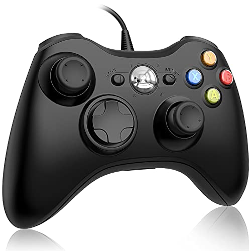 Wired Controller for Xbox 360, FOCOLABU PC Game Wired Controller for Microsoft Xbox 360 and Windows PC (Windows 10/8.1/8/7) with Double Vibration and Ergonomic Wired Game Xbox Controller