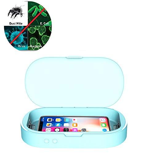 YMN 5V UV-sterilisator box, 10W draadloos opladen snel bruikbare draadloze oplader UV-mobiele telefoon sterilisator voor sieraden make-up tools