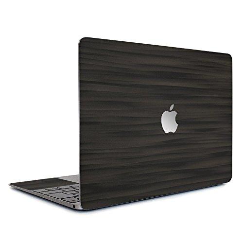 wraplus for MacBook Air 13 インチ M1 2020 2019 2018 対応 [ブラックアブストラクト] スキンシール フィルム ケース カバー
