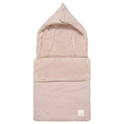 Koeka Babyfußsack - Fußsack Für Babyschale - Baby Schlafsack - Für Maxi-Cosi - Riga - Aus Bio-Baumwolle - Mit Teddy Gefüttert - Waschbar - Altes Rosa - Einheitsgröße