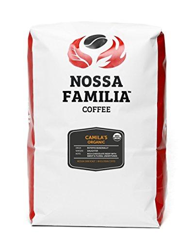 Organic Med-Dark Italian Roast Coffee, Camila's 5lb Whole Bean