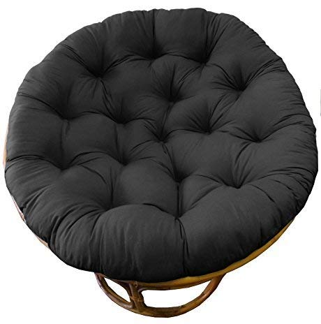 COTTON CRAFT Papasan Teal - Overstuffed Chair Cushion, Sink into Our Thick Comfortable and Oversized Papasan, Pure 100% Cotton Duck Fabric, Fits Standard 45 inch Round Chair - Chair not Included