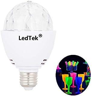 LedTek LED Blacklight Bulb LED UV Stage Light E26 Ultraviolet Rotating Poster Reactive Bulbs DJ KTV Party Pub Club decor Disco Ball 3W 390nm Wavelenght