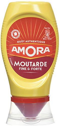 Amora Moutarde Fine et Forte 265g (Pack de 9)
