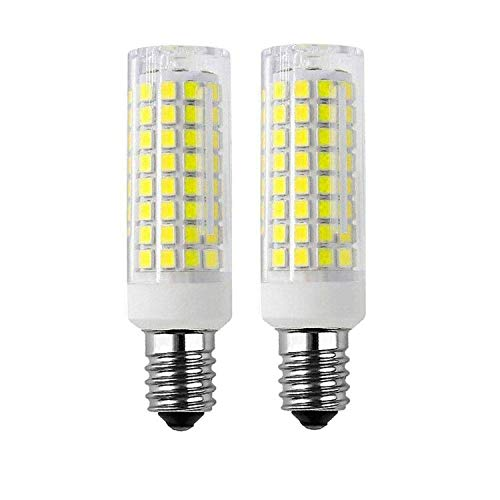 E14 LED Bulbs E14 European Base,8W LED Light Equivalent to 80W Incandescent Bulb,Dimmable 800Lumen for Electric Window Candle Lamp, Replacement Oven,E14 Cooker Hood Bulbs(2 Pack) (Daylight White6000K)