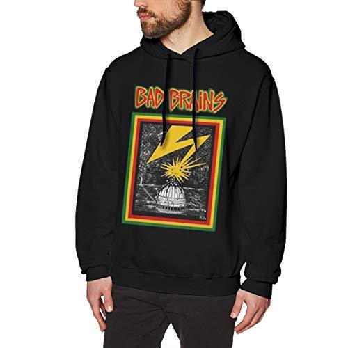 SlenTeemen Bad Brains Logo Comfortable Hoodie Sweatshirt Black L Sweater Sport Pullovers Winter Long Sleeve Hoodies