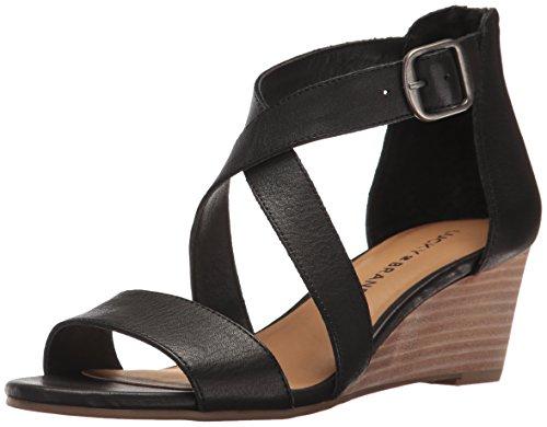Lucky Brand Women's Jenley Sandal, Black 1, 7.5 Medium US