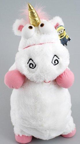 2013 Universal Despicable Me 3D Ride Agnes Fluffy Unicorn Pillow Plush Large 22' Size