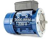 MOTOR ELECTRICO MONOFASICO 2,2KW / 3CV 220V 3000RPM B5 (BRIDA 200mm) TAMAÑO 90L (EJE 24mm)