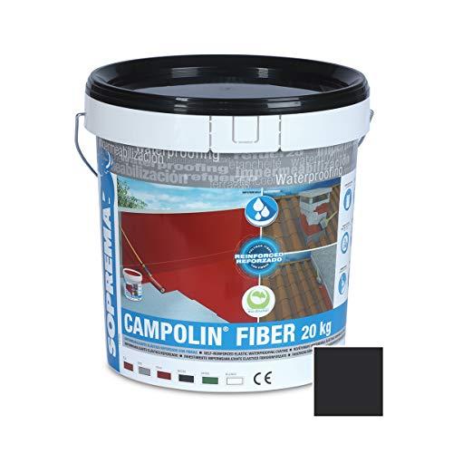 SOPREMA CAMPOLIN FIBER 20 KG NEGRO Impermeabilizante de Caucho acrílico Armado con Fibras