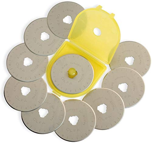 Rotary Cutter Blades, 45mm Rotary Blades, Fits OLFA Replacement, RB45-10, 10-Pack